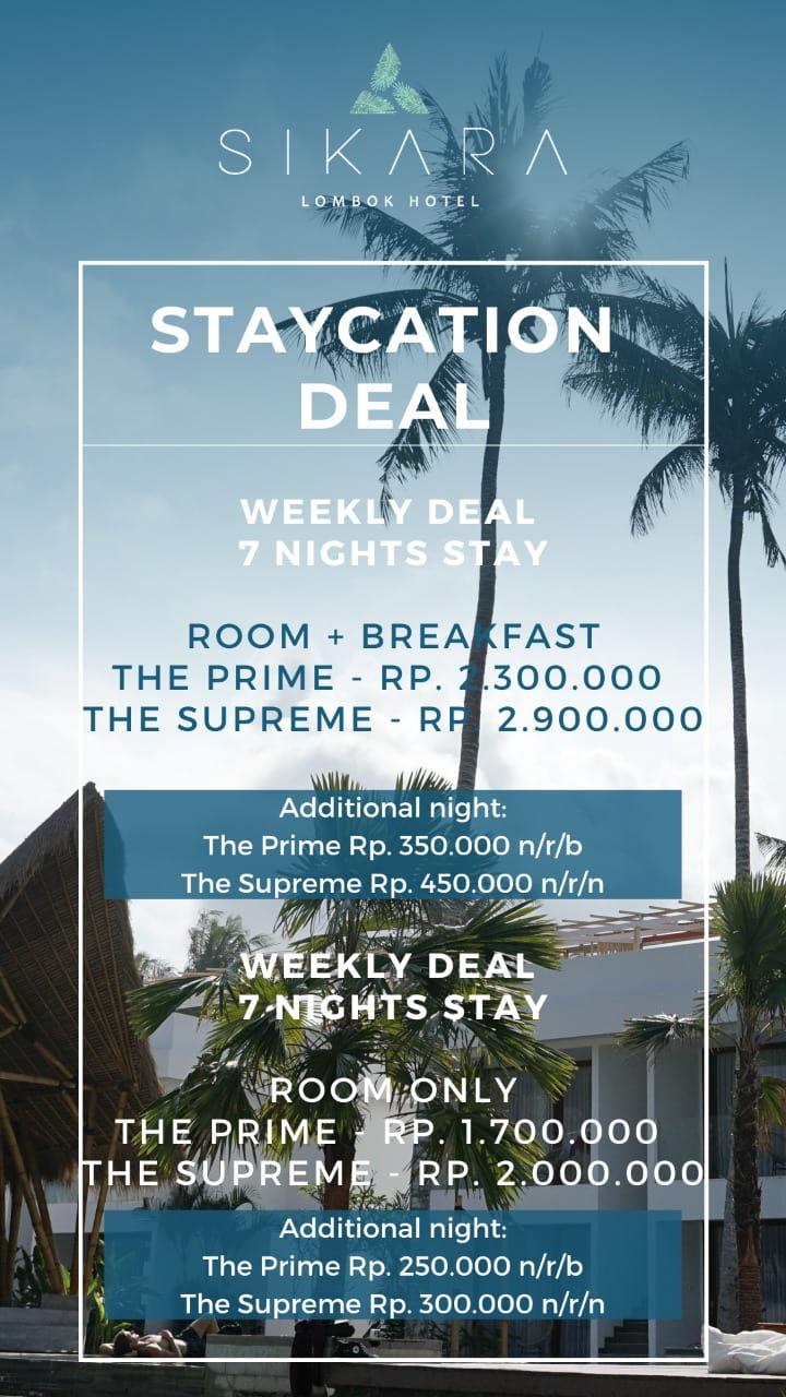New Year Deal at Sikara Lombok Hotel